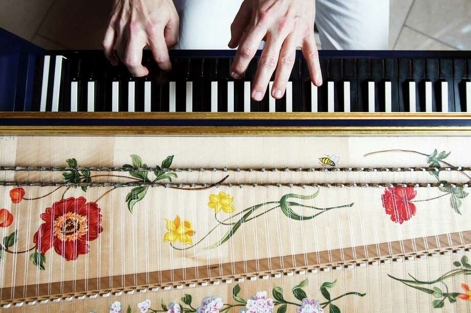 St. Philip Presbyterian Church's new harpsichord was built by John Phillips and painted by Janine Johnson. Photo: Michael Paulsen / © 2012 Houston Chronicle