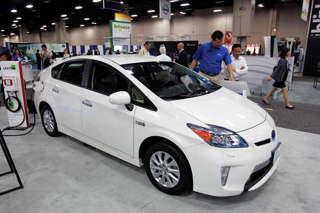 A Plug-in Prius is shown at the Plug-In-2012 Convention & Expo at the Gonzalez Convention Center on July 25, 2012. Photo: Tom Reel / ©2012 San Antono Express-News