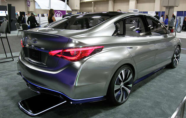 Infiniti has a flashy prototype showing at the Plug-In-2012 Convention & Expo at the Gonzalez Convention Center on July 25, 2012. Photo: Tom Reel / ©2012 San Antono Express-News