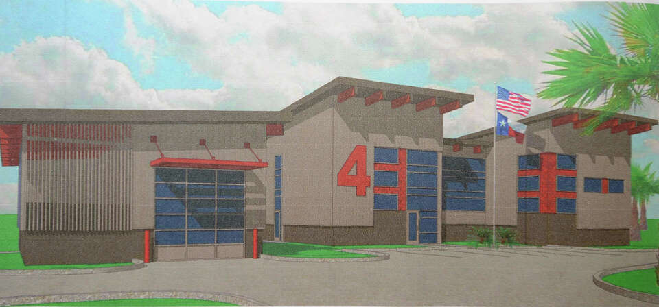 Artist rendering of Sabine Pass' new fire station. Photo taken Thursday, July 19, 2012 Guiseppe Barr