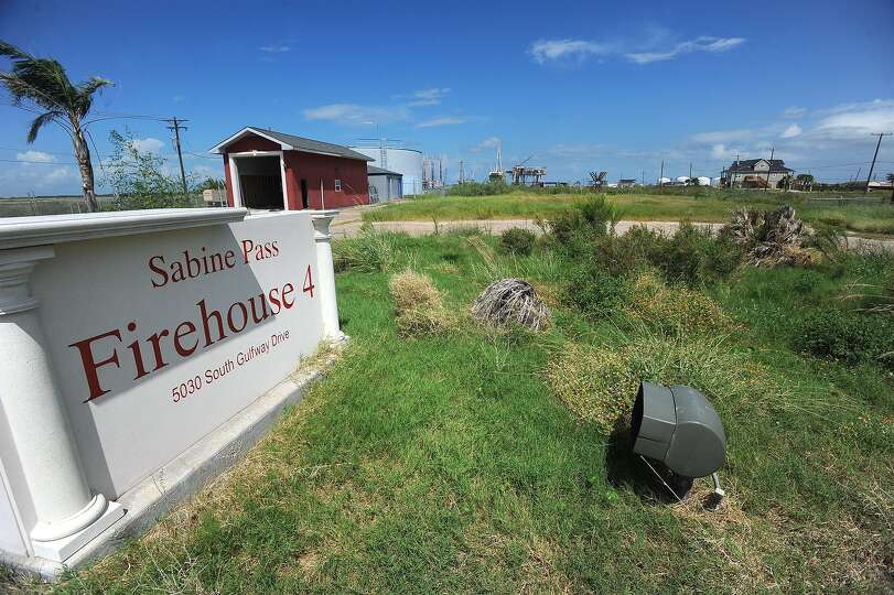 With Hurricane Ike's destruction of the Sabine Pass fire station, little remains as a reminder that