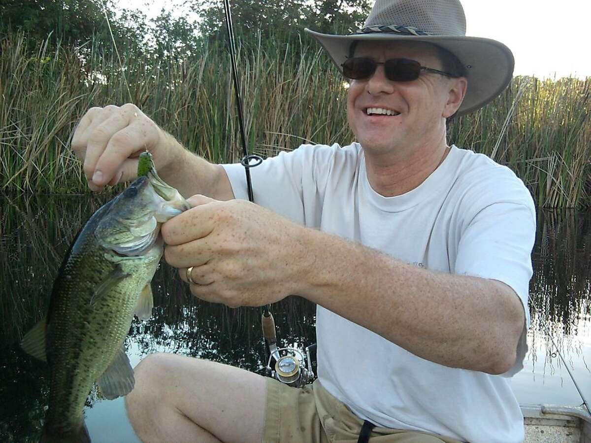 Tom Hedtke with typical bass caught this week at farm pond. Tom Stienstra/The Chronicle