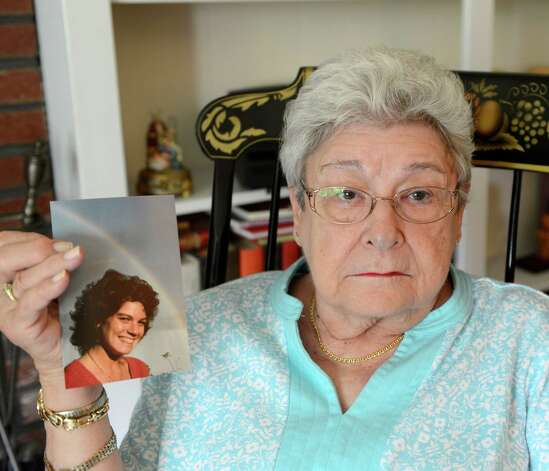 Barbara Huff holds an image of Stephanie Diamond at her home in Clifton Park, N.Y. July 24, 2012.     (Skip Dickstein/Times Union) Photo: Skip Dickstein / 00018570A