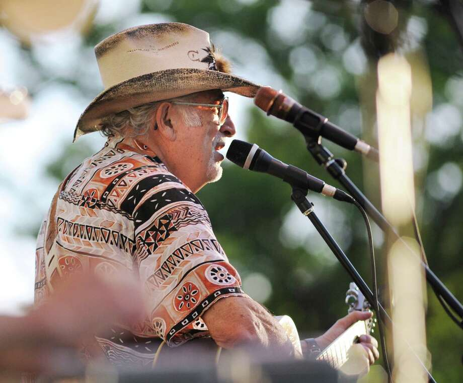 Nick DeMaio Sr. performs for Gunsmoke, a classic country-western swing-rockabilly band out of Darien, at Roger Sherman Baldwin Park in Greenwich, Wednesday, July 25, 2012. Photo: Bob Luckey / Greenwich Time