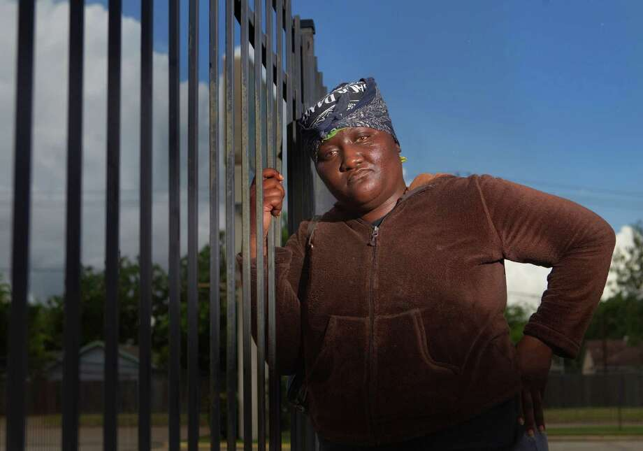 """Franchesica, at Liberty Island Personal Care Facility in Alief, gives her caseworker credit for a four-month stretch without a police run-in. """"I'm not feeling better, but I'm doing better, because I'm controlling my temper,"""" Franchesica said. Photo: Cody Duty / © 2011 Houston Chronicle"""