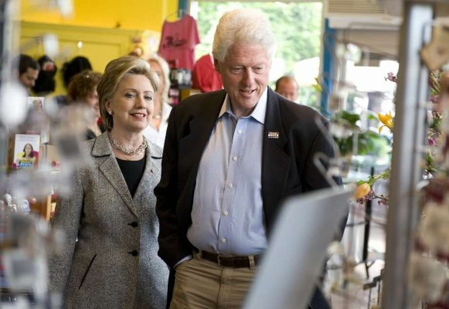 "Bill and Hillary Clinton, blunt talkers in private.  ""I get really tough when people f*** with me,"" Hillary told an aide on the night of the New Hampshire primary.  Bill claimed the press was so in love with Obama that they would ""cream in their jeans for this guy."" (ROBYN BECK / AFP/Getty Images)"