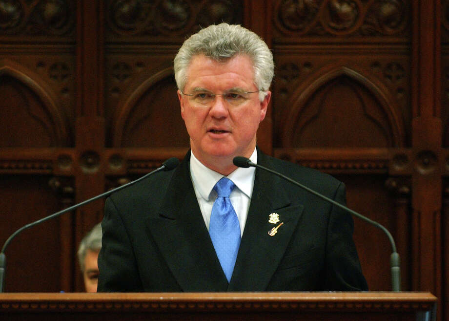 Speaker of the House Christopher Donovan addresses lawmakers while at the podium at the conclusion of the Connecticut General Assembly in Hartford, Conn. on Wednesday May, 9, 2012. Photo: Christian Abraham / Connecticut Post