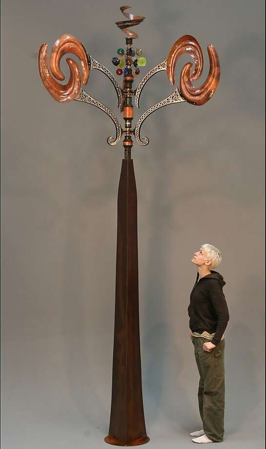 Andrew Carson's kinetic wind sculptures will be on display at the Mill Valley Fall Arts Festival next weekend at Old Mill Park. Get details at mvfaf.org. Photo: Andrew Carson