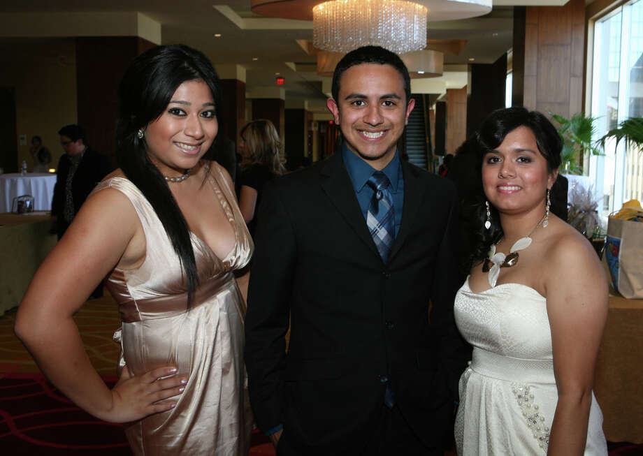 OTS/HEIDBRINK - Scholarship recipients Ana Federico, from left, Nicholas Canedo and Joyce Tamayo gather at the San Antonio Association of Hispanic Journalists awards gala at the Grand Hyatt Hotel on 7/20/2012. This is #2 of 3 photos. names checked photo by leland a. outz Photo: LELAND A. OUTZ, SPECIAL TO THE EXPRESS-NEWS / SAN ANTONIO EXPRESS-NEWS