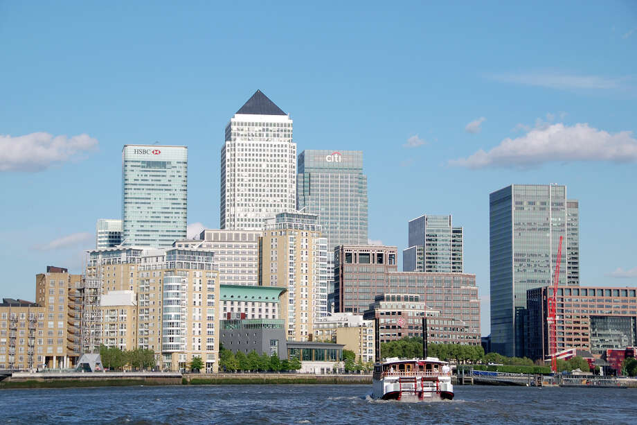 The Docklands — London's 19th-century harbor and warehouse district — is now its center of banking, finance, publishing, and media. Photo: Cameron Hewitt, Ricksteves.com