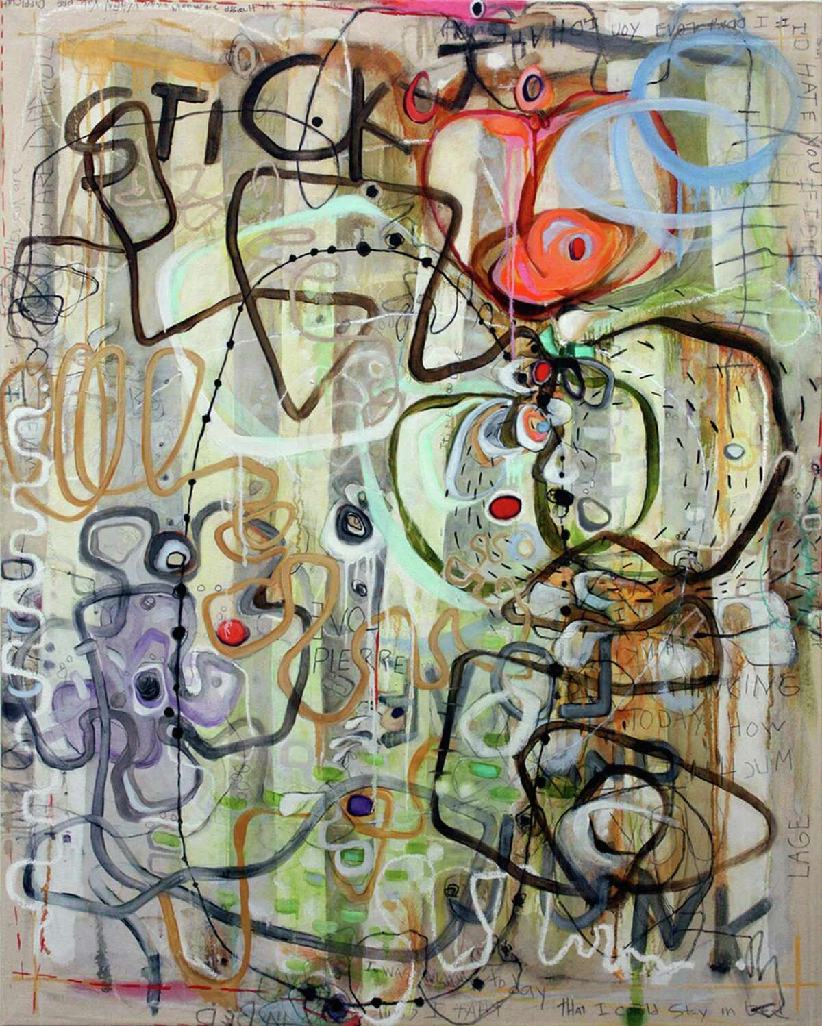 """""""Stick It Love and Junk"""" by Janet Lage of Old Lyme will be on view in """"Thank You, CT!"""" opening at the Fernando Luis Alvarez Gallery in Stamford on Friday Aug. 3."""
