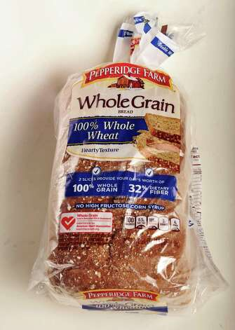 Pepperidge Farm whole wheat bread in the TU photo studio Wednesday July 18, 2012.   (John Carl D'Annibale / Times Union) Photo: John Carl D'Annibale, Albany Times Union / 00018500A