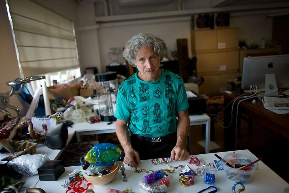 Sculptor/inventor Richard Zawitz works in his Hong Kong studio on Tuesday, Jul. 17, 2012, in preparation for an upcoming exhibition in the territory.  Zawitz has a South San Francisco toy company that makes Tangle and Tangle Jr. -- whimsical twistable playthings that people can bend into all sorts of shapes. He has patents and trademarks on the toys,  but that hasn't stopped lots of blatant counterfeiting by Chinese firms. Photo: Daniel J. Groshong, Special To The Chronicle