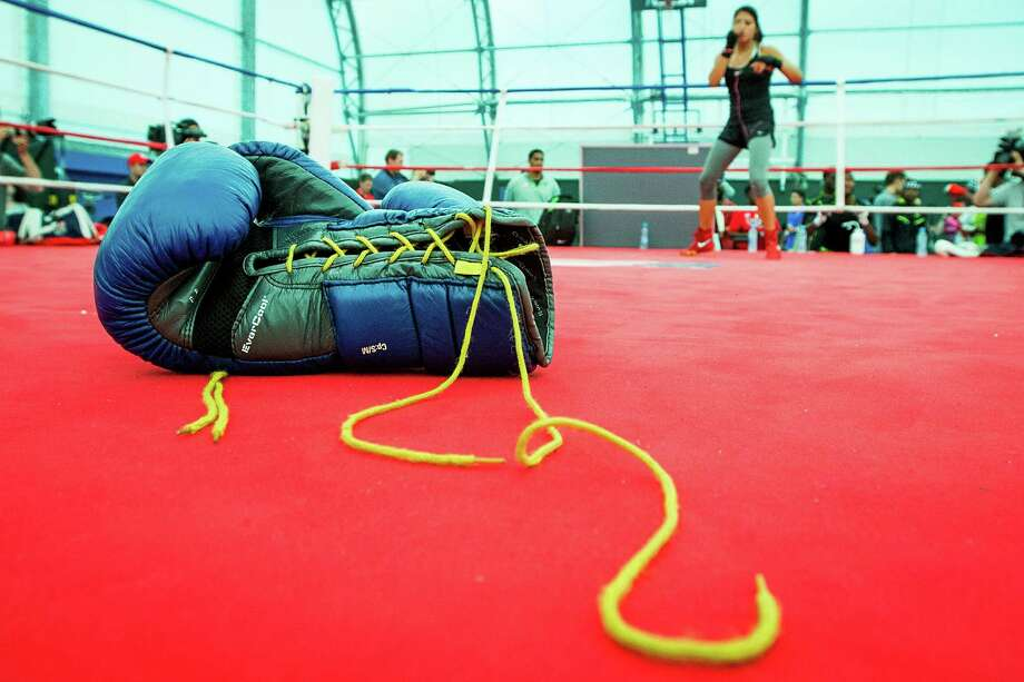 Marlen Esparza, a flyweight, will step into the ring when women's boxing makes its debut at the Olympics on August 5. Photo: Smiley N. Pool, Houston Chronicle / © 2012  Houston Chronicle