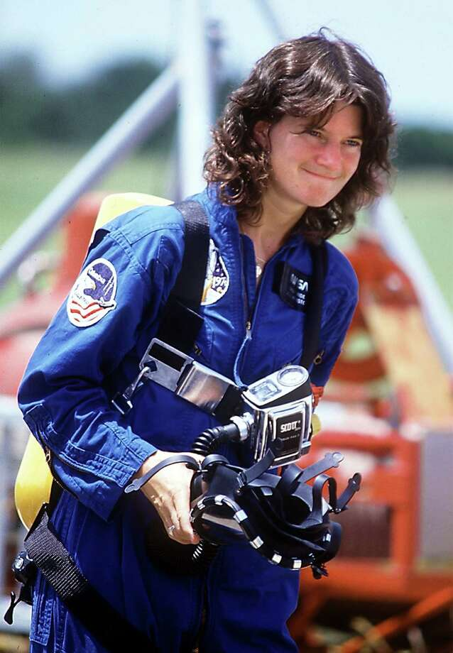 Former NASA astronaut Sally Ride died after her battle with pancreatic cancer. She was 61.  Photo: Red Huber / Orlando Sentinel
