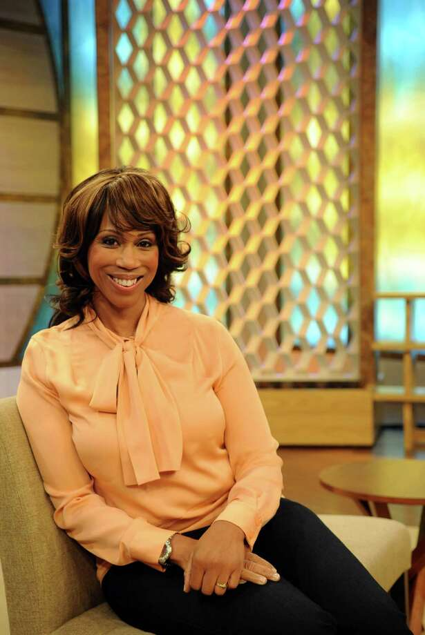 "Trisha Goddard poses for a photo on the set of her new show, ""Trisha,"" at the Stamford Media Center on Thursday, July 26, 2012. Photo: Lindsay Niegelberg / Stamford Advocate"
