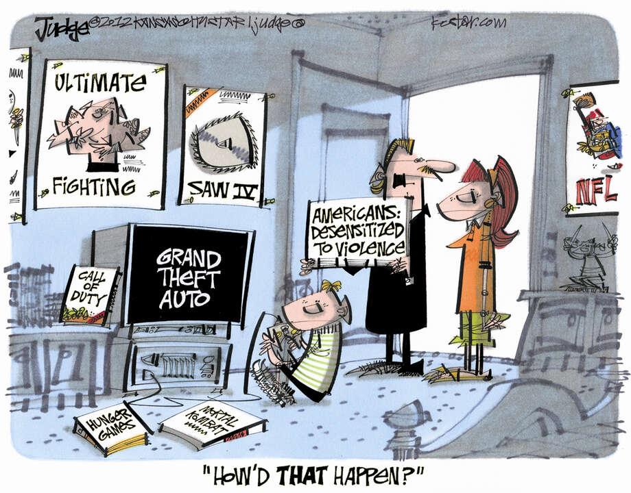 Editorial cartoon by Lee Judge from Kansas City Star.