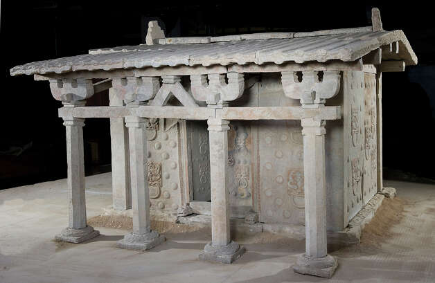 Sarcophagus Northern Wei dynasty (386?535 CE), tomb dated 477 CE Sandstone, 240 x 348 x 338 cm  Unearthed 2000, tomb of Song Shaozu (d. 477 CE), Caofulou Village, Datong, Shanxi Province Shanxi Museum, Taiyuan (Courtesy Clark Art Institute) Photo: LICHUN