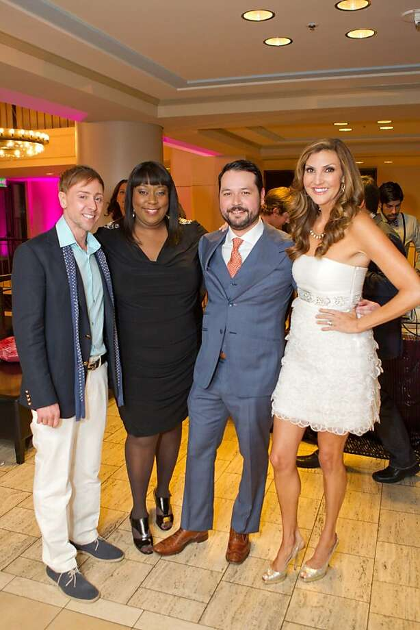 Mark Rhoades, Loni Love, Brandon Hernandez, Heather McDonald. Photo: Drew Altizer