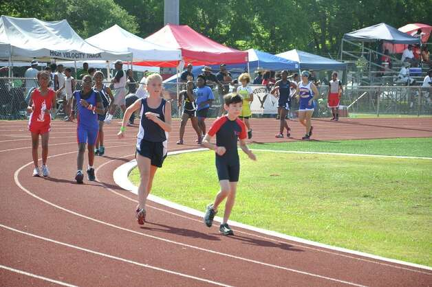 B.T. Striders' Mia Brown in the 1,500-meter race walk. Photo: Courtesy Of Jeffery Hulon