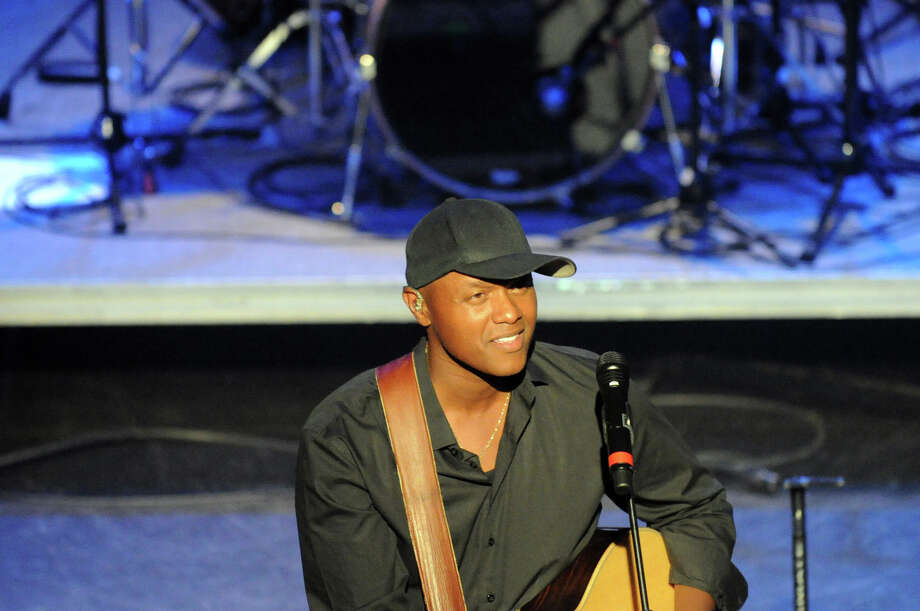 Javier Colon headlines Alive @ Five this week at the Palace Theater, where it was moved due to weather, in Stamford, Conn., July 26, 2012. Photo: Keelin Daly / Stamford Advocate