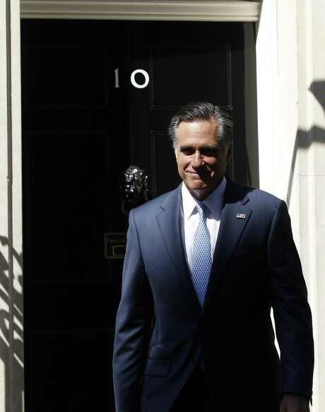 """GOP presidential contender Mitt Romney, after meeting with British leader David Cameron, now says he expects the Games """"to be highly successful."""" Photo: Charles Dharapak / AP"""