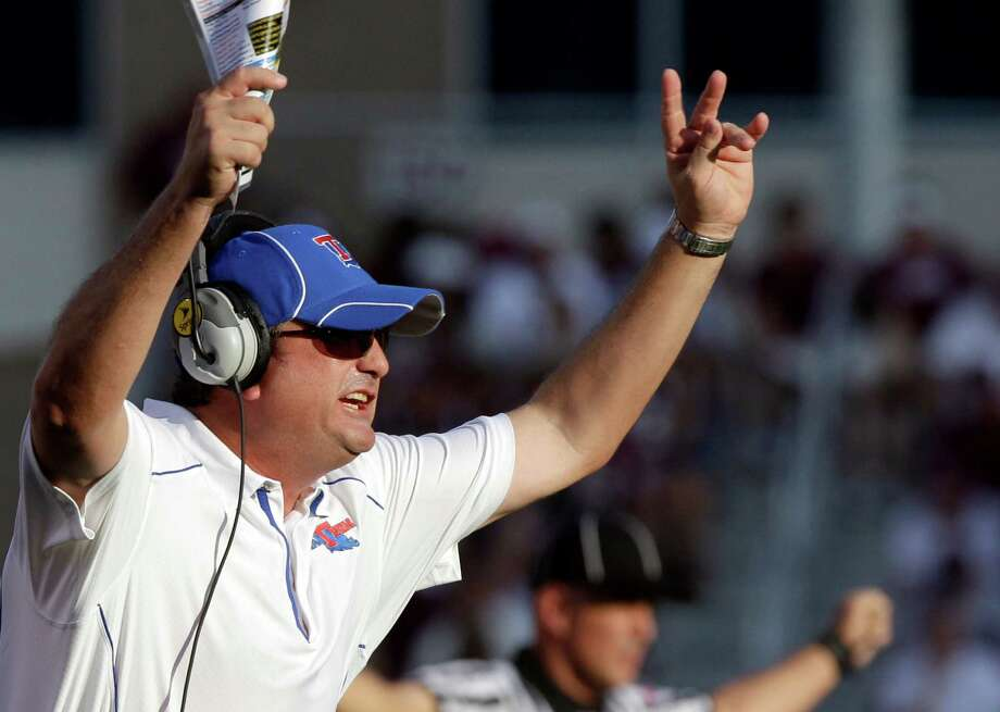 Coach Sonny Dykes of defending WAC champion Louisiana Tech has assembled a team with all-conference-caliber talent at almost every position. Photo: David J. Philip, Associated Press