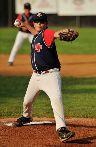 Robert Zurzola was the starting pitcher for New Fairfield during their Cal Ripken 11-year-old state tournament final against Oxford at Tegmier Field in New Fairfield on Thursday, July 26, 2012. Photo: Jason Rearick / The News-Times