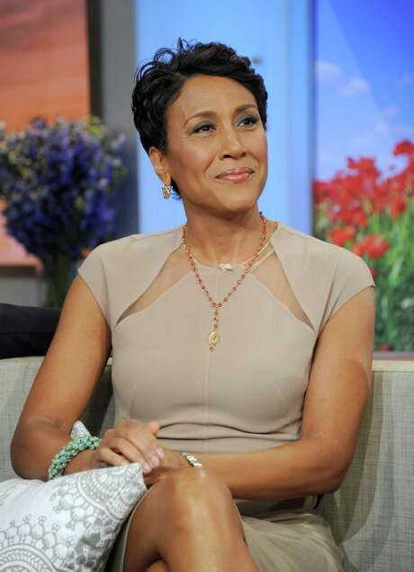 """This image released by ABC shows host Robin Roberts on """"Good Morning America"""" Monday, June 11, 2012, after announcing she has been diagnosed with myelodysplastic syndrome, a blood and bone marrow disease once known as preleukemia. Roberts says she will undergo chemo and a bone marrow transplant this year as """"pretreatment"""" for the disease, which she says she has known about for several weeks. She says her sister is a great match for her. While she says she'll miss a day here and there, she'll remain on the air. (AP Photo/ABC, Ida Mae Astute) Photo: Ida Mae Astute / ©2012 American Broadcasting Companies, Inc.  All rights reserved."""