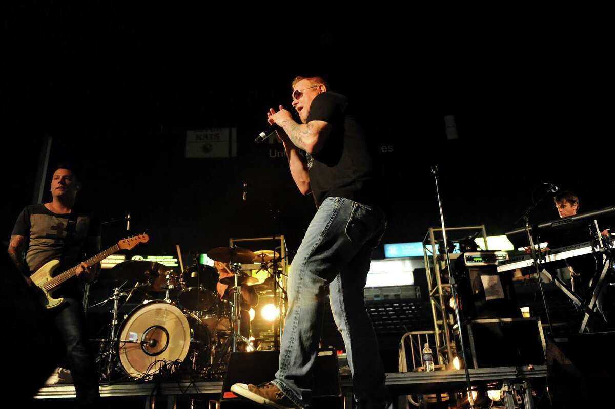 Lead singer Steve Harwell, center, performs with Smash Mouth at Alive at Five on Thursday, July 26, 2012, at Times Union Center in Albany, N.Y. (Cindy Schultz / Times Union)