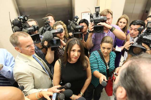 Yvonne Stern refuses to say anything to the media after Michelle Gaiser pleaded guilty to trying to kill her in exchange for a 20-year prison sentence. Photo: Nick De La Torre