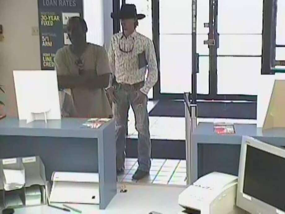 Photos of a robbery at Capital One in Orange, provided by OPD. Photo: Orange Police Department