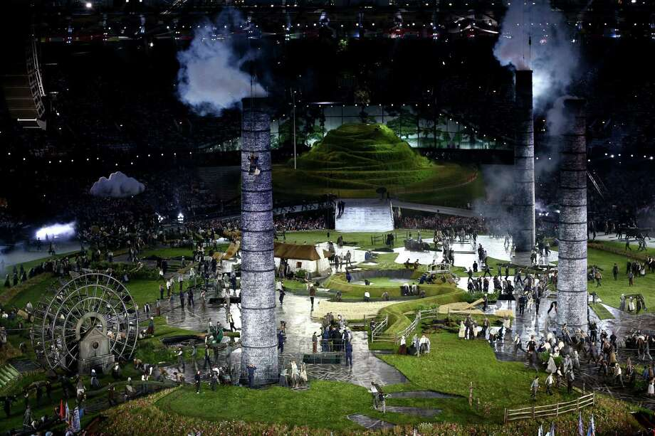 Performers depict a view from the change of the English countryside to the Industrial Revolution during the Opening Ceremony of the London 2012 Olympic Games at the Olympic Stadium on July 27, 2012 in London, England. Photo: Getty Images