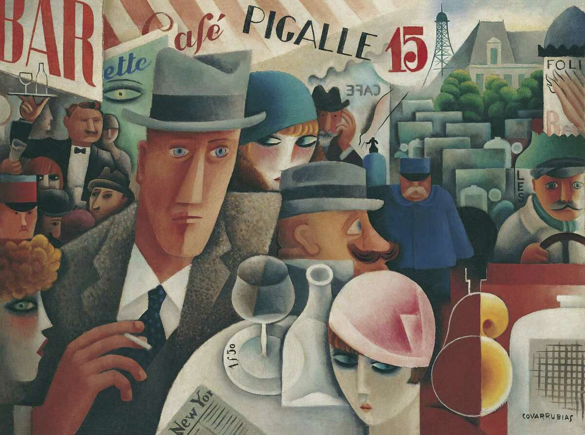 """Miguel Covarrubias's """"George Gershwin, An American in Paris"""" (1929) is among the works on display in """"Modern and Contemporary Masterworks from Malba - Fundacion Costantini"""" at the Museum of Fine Arts, Houston through August 5. Miguel Covarrubias, Mexican, 1904-1957 George Gershwin, An American in Paris 1929 Oil on canvas Malba-Fundaci n Costantini, Buenos Aires Maria Elena Rico Covarrubias"""