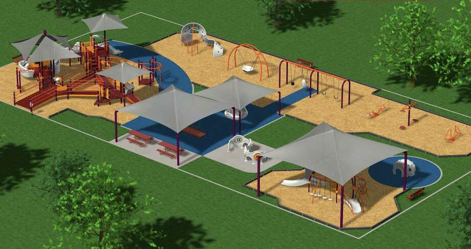 Artist rendering of the barrier-free park to be built near the Beaumont Event centre. Photo taken Thursday, July 26, 2012 Guiseppe Barranco/The Enterprise Photo: Guiseppe Barranco, STAFF PHOTOGRAPHER / The Beaumont Enterprise