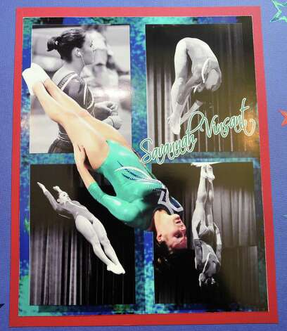 Savannah Vinsant, the 19-year-old who will compete in women's trampoline at the 2012 Olympics in London on Aug. 4, lived in Newton Texas for six years. Before Savannah qualified for the 2012 Olympics, her parents, Neil and Ramonda Vinsant, opened the Twist & Shout Gymnastics and Cheer Studios to give her a place to train and her mother was one of her trainers.  Savannah has scrap books that her mom keeps in the house behind the studio. These are copies of some of her pages.  Photos provided by Ramonda Vinsant Photo: Dave Ryan