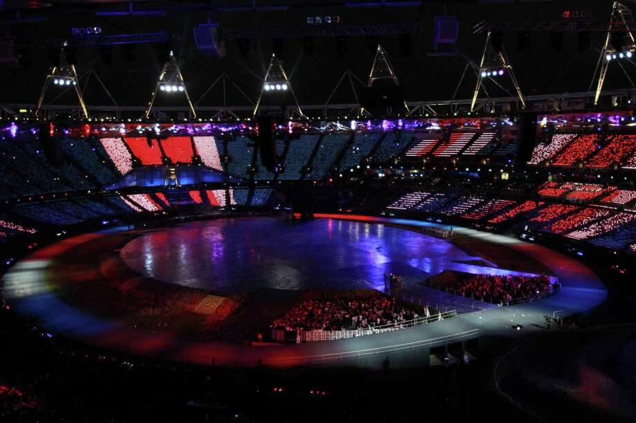 A general view of the interior of the stadium during the Opening Ceremony of the London 2012 Olympic Games at the Olympic Stadium on July 27, 2012 in London, England. Photo: Ronald Martinez, Getty Images / 2012 Getty Images