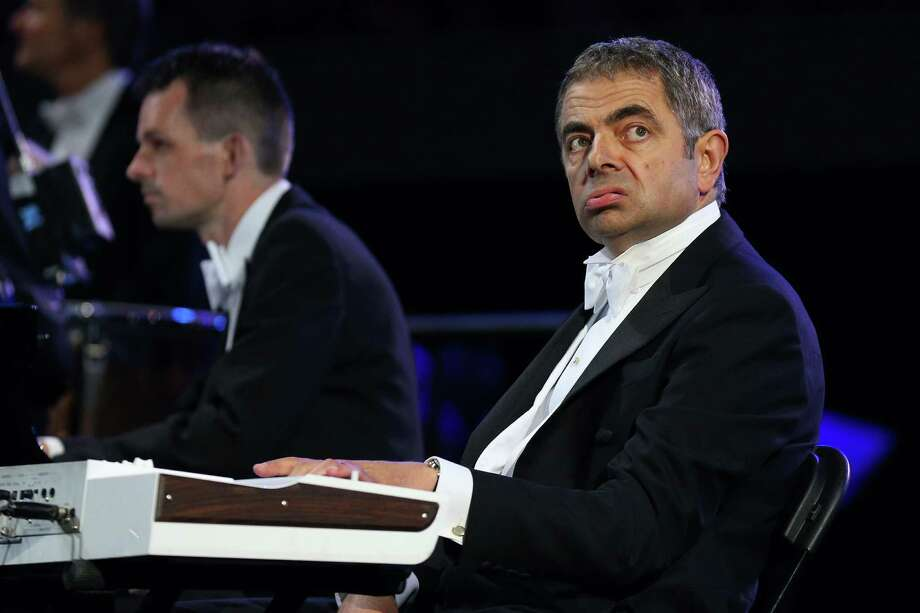 British actor Rowan Atkinson in his role as Mr Bean takes part in the Opening Ceremony of the London 2012 Olympic Games at the Olympic Stadium on July 27, 2012 in London, England. Photo: Getty Images