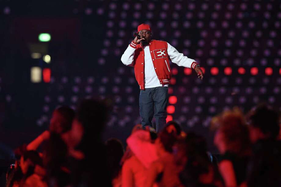 LONDON, ENGLAND - JULY 27:  Dizzee Rascal performs during the Opening Ceremony of the London 2012 Olympic Games at the Olympic Stadium on July 27, 2012 in London, England. Photo: Cameron Spencer, Getty Images / 2012 Getty Images