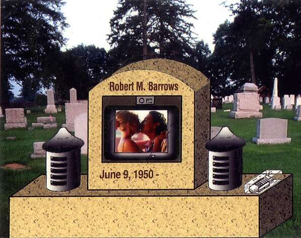 An artist's rendering shows the Video Enhanced Gravemarker, invented by Robert Barrows. Photo: Courtesy Of Robert Barrows