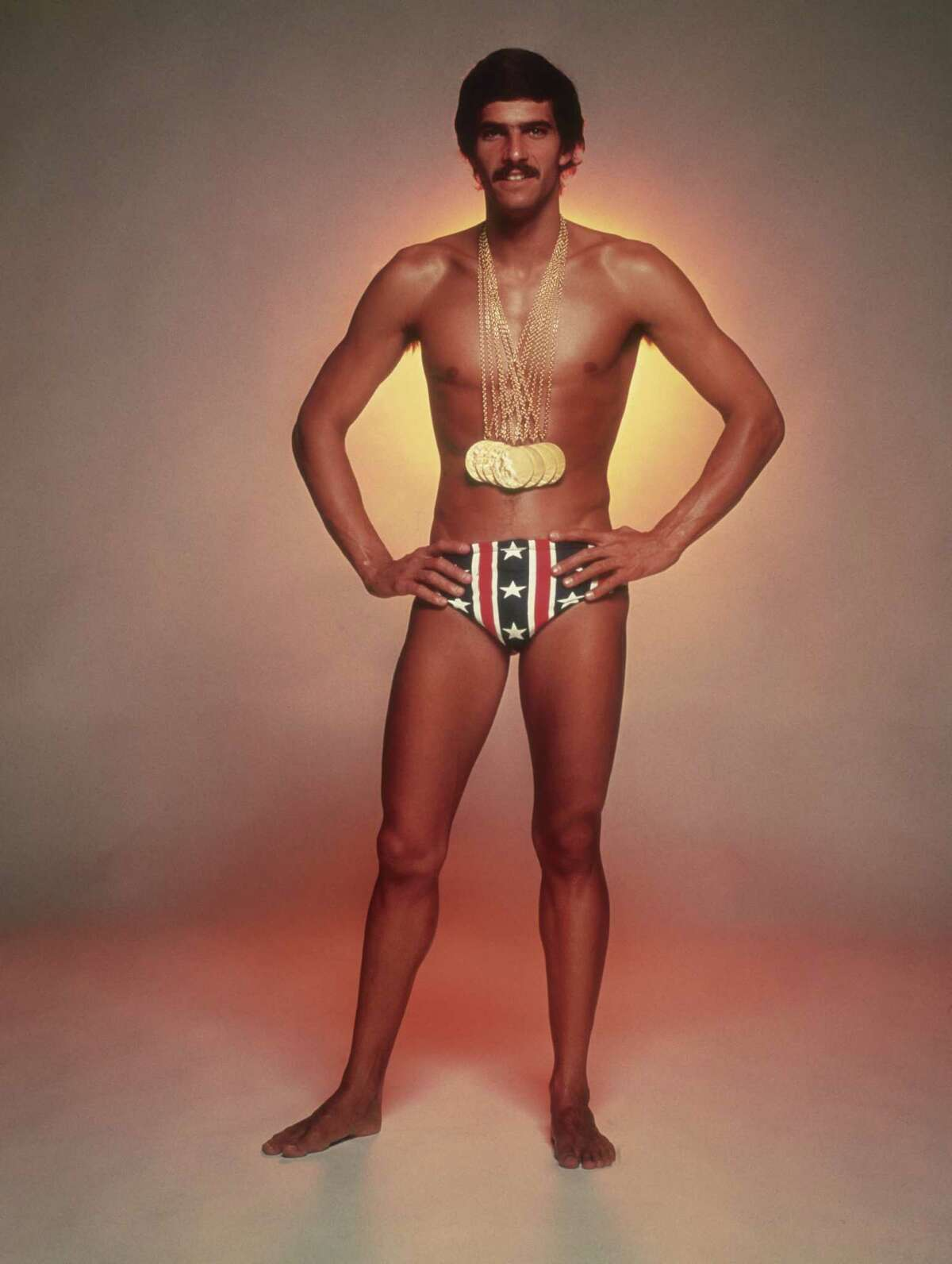 U.S. swimmer Mark Spitz won seven gold medals at the 1972 Munich Olympic Games while sporting a Speedo.