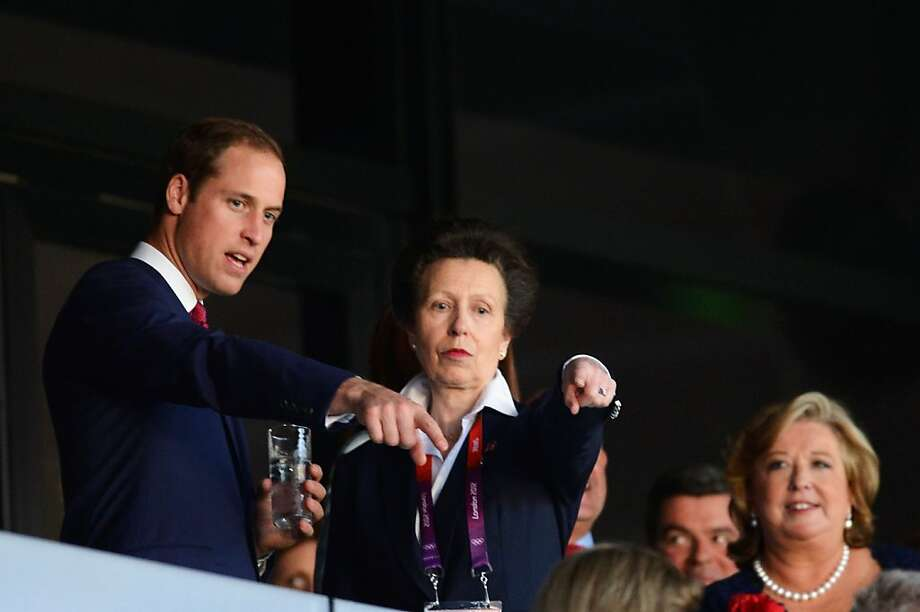 LONDON, ENGLAND - JULY 27:  Prince William, Duke of Cambridge and Princess Anne, Princess Royal during the Opening Ceremony of the London 2012 Olympic Games at the Olympic Stadium on July 27, 2012 in London, England.  (Photo by Pascal Le Segretain/Getty Images) Photo: Pascal Le Segretain, Getty Images