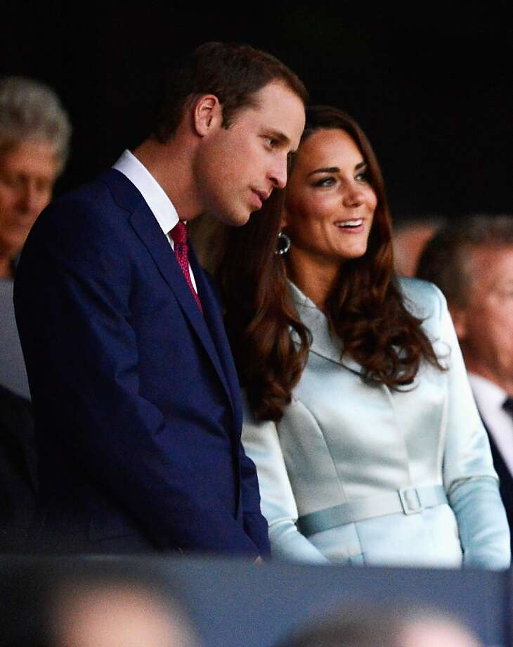 LONDON, ENGLAND - JULY 27:  (L-R) Prince William, Duke of Cambridge and Catherine, Duchess of Cambridge are seen during the Opening Ceremony of the London 2012 Olympic Games at the Olympic Stadium on July 27, 2012 in London, England.  (Photo by Pascal Le Segretain/Getty Images) Photo: Pascal Le Segretain, Getty Images