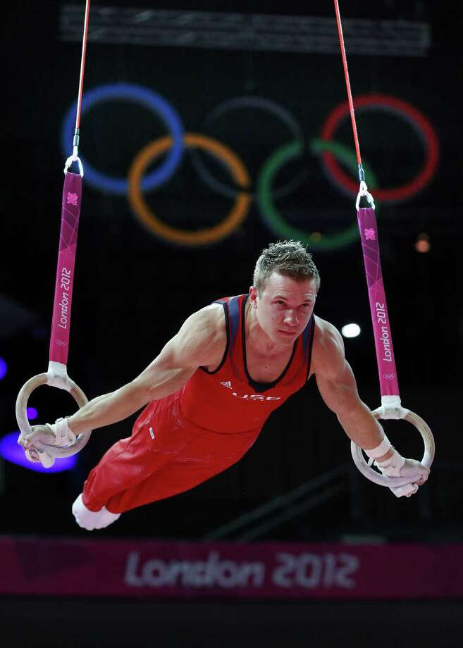 """Jonathan Horton, the only returning U.S. men's gymnast from the 2008 team, is the squad's unquestioned leader in London. """"We know we can compete with anyone,"""" he said. Photo: THOMAS COEX, AFP/Getty Images / AFP"""