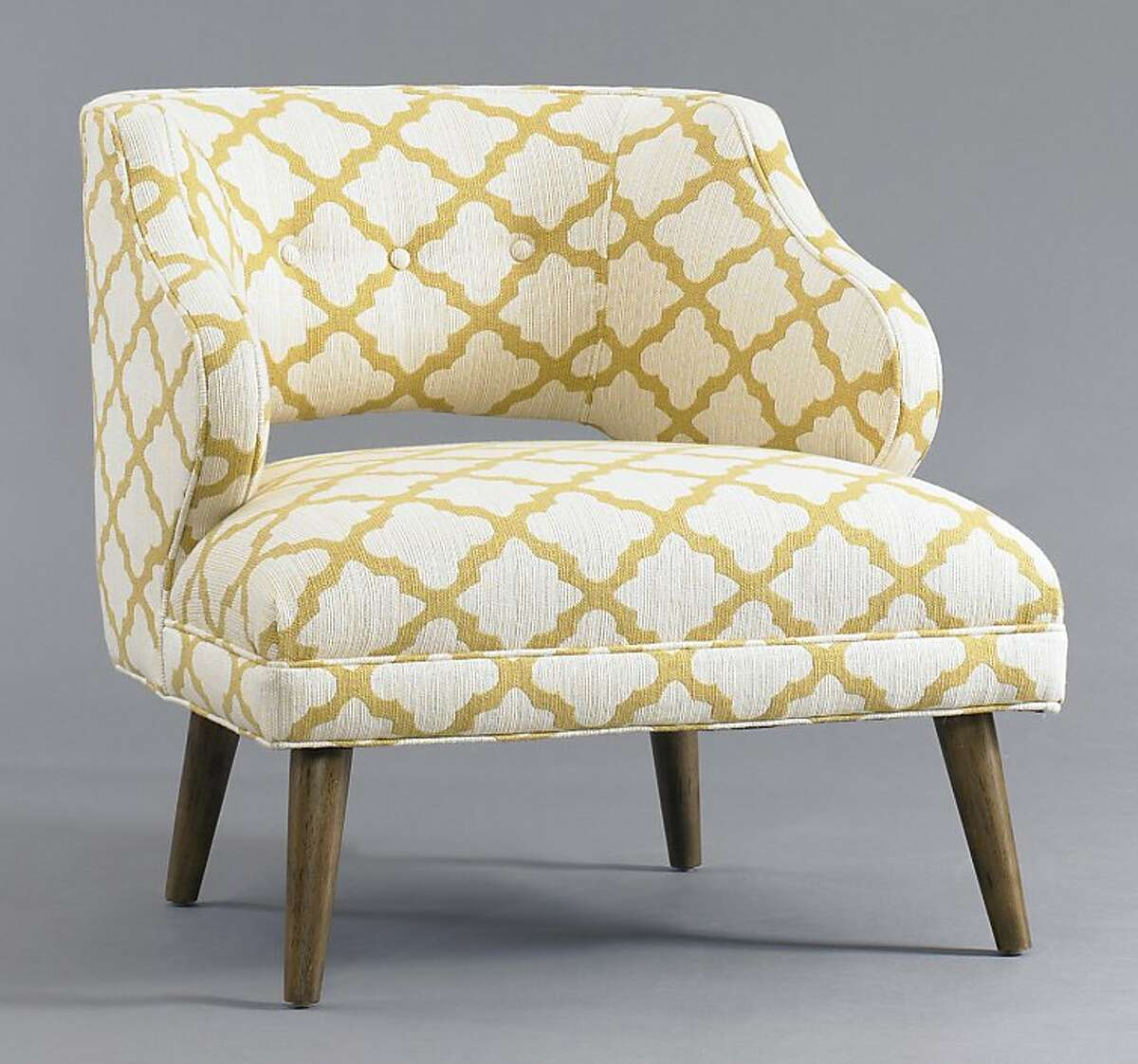 More: $1,290 The Mallory Chair in CasaBlanca Geo Citrine from DwellStudio (dwellstudio.com)