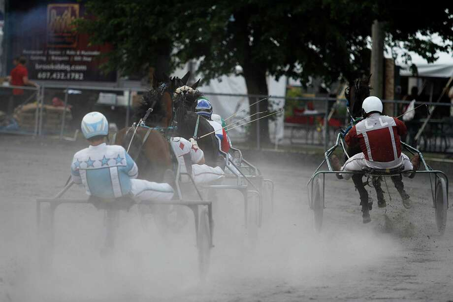 Harness Racing is featured at the Grandstand on opening day at the Schoharie County Fair, Friday July 27, 2012 in Cobleskill, N.Y. (Dan Little/Special to the Times Union) Photo: Dan Little / Dan Little