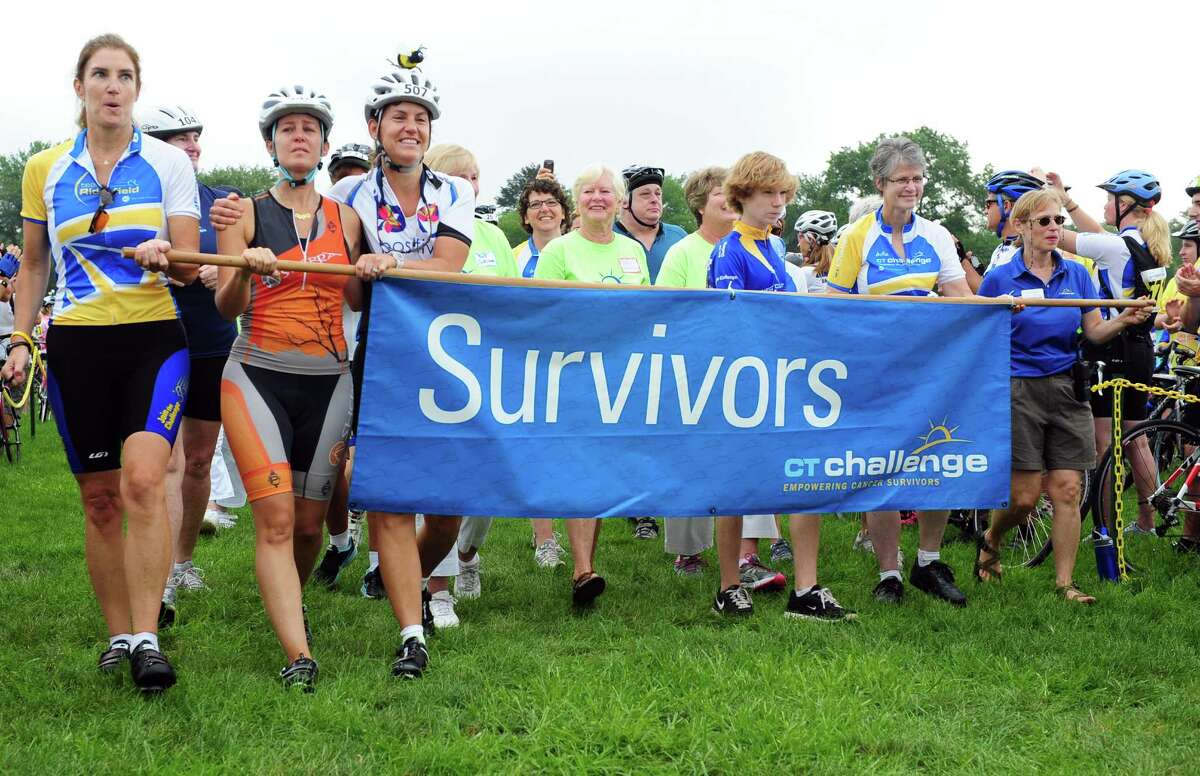 Over 1,000 cyclists participate in the 8th Annual CT Challenge Bike Ride, a benefit for cancer-survivorship programs Saturday, July 28, 2012 at the Fairfield County Hunt Club in Westport, Conn.