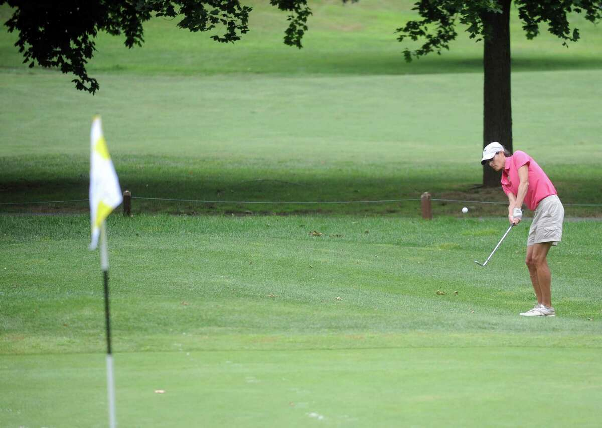 Jen Kaplan plays in the 2012 Stamford Amateur Golf Championship at E.G. Brennan golf course on Saturday, July 28, 2012.