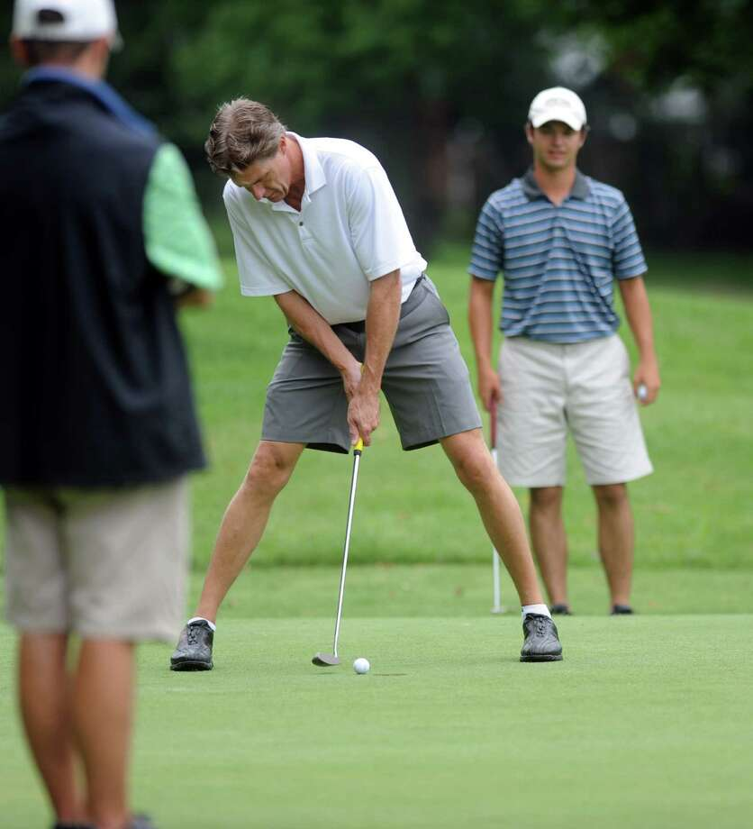 Rick Cavanaugh plays in the 2012 Stamford Amateur Golf Championship at E.G. Brennan golf course on Saturday, July 28, 2012. Photo: Lindsay Niegelberg / Stamford Advocate