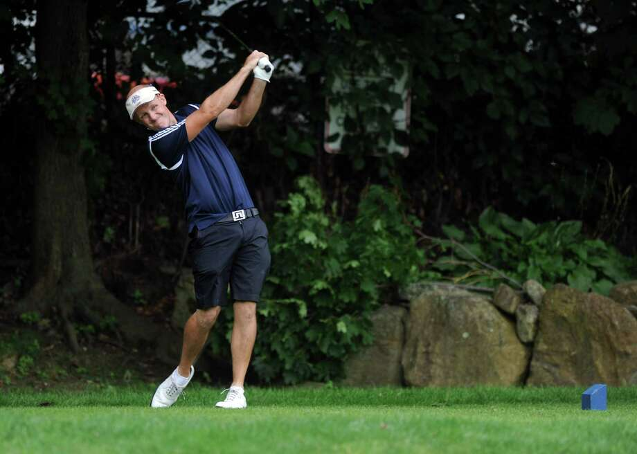 Cahal McMonagle plays in the 2012 Stamford Amateur Golf Championship at E.G. Brennan golf course on Saturday, July 28, 2012. Photo: Lindsay Niegelberg / Stamford Advocate